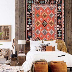 Boho Southwestern Style Floral Tapestry NWT!